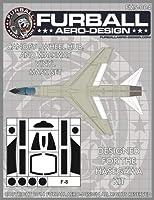 ファーボール FMS-004 1/48 F-8 クルセイダー キャノピー、ウォークウェイ、ホイールハブ用ビニールマスクセット(ハセガワ用)