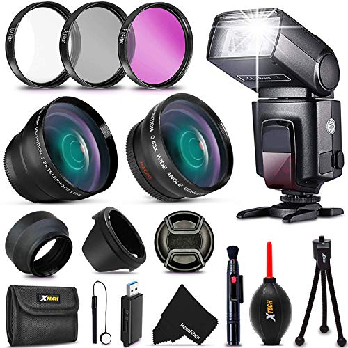 Premium 58mm Accessory Kit for Canon EOS Rebel T6i T6S T5i T5 T4i T3i T3...