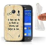 Hülle Für Samsung Galaxy Ace Style Schule der Magie Film Zitate Dwell On Dreams Design Transparent Dünn Weich Silikon Gel/TPU Schutz Handyhülle Hülle