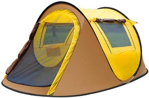 WYGRACE Tente De RandonnéE pour Tente De Plage 3-4person Pop Up Tente ExtéRieure RéSistant Aux UV, Tente De Camping à Une Seule Couche Anti-Moustiques pour Le Camping sur La Plage