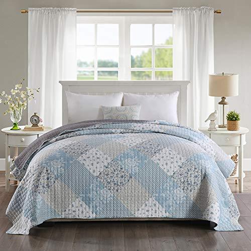 WOLTU BD15m04 Couverture de lit Couvre-lit 240x260 cm matelassée pour lit jeté de lit Double Motif Patchwork