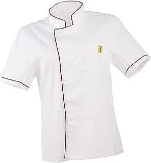 Men Women Chef Uniform Single Breasted Cook Short Sleeve Coat