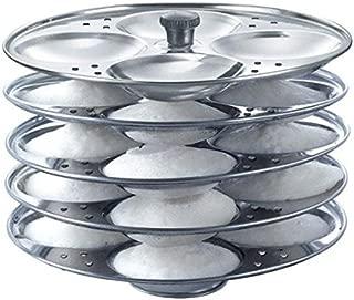 Samudratanaya Exports Stainless Steel 5-Rack Idli Stand, Makes 20 Idlis, idli maker,soft idli maker,Stainless Steel Idli Cooker
