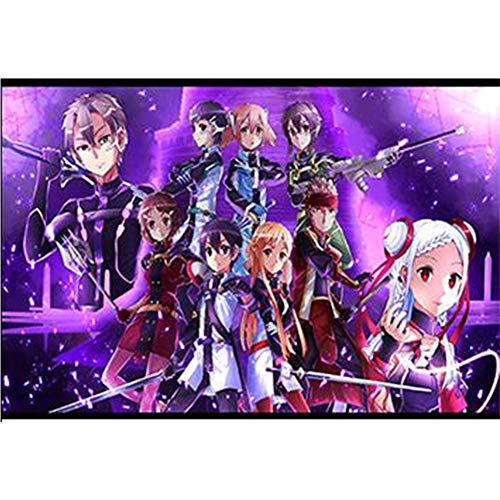 Rowe 1000 Adultos Pieza Y Rompecabezas For Niños, Animado Puzzle Juegos Sword Art Online Asuna Y Kirito Jigsaw, Recuerdos Personalizada (Color : 1000PC)