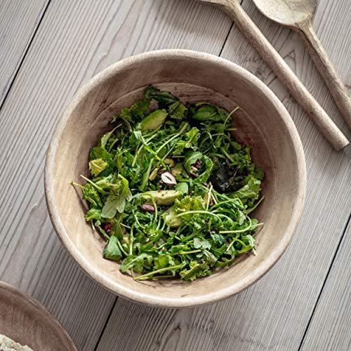 Rustieke serveerschaal Premium Mango Wood van CKB LTD Diner Eettafel Centrepiece Houten Salade Bowls voor Feesten - Medium 11 x 28,5 cm