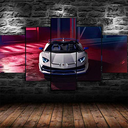 5 Piezas De Lienzo De Arte De Pared Lamborg Aventador Car Framed Cuadro sobre Lienzo 5 Piezas Decoracion Pared Cuadro Cuadros Decoracion Salon Cuadros Decoracion Dormitorios