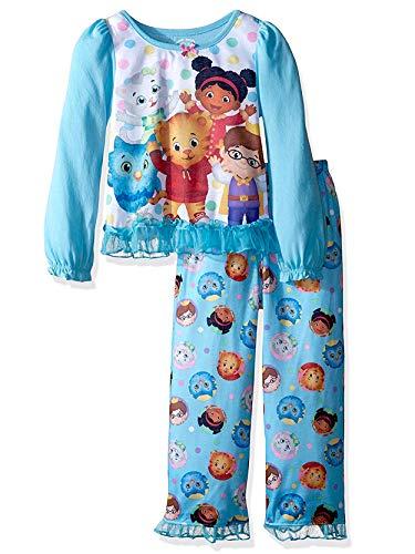 Daniel Tiger Toddler Girls Long Sleeve Poly Pajama Set (3T, Blue)