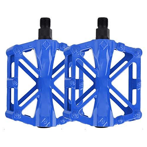 IWILCS Pedales, Pedales de Bici, Pedal Antideslizante, Aleación de Aluminio Rodamiento Sellado, para Bicicletas de Montaña, Bicicletas de Ciudad y Bicicletas de Carretera(Azul)