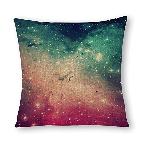 perfecone Home Improvement Cotton Pillowcase Double Beautiful Cool Colourful Hipster Nebula Stars Sofa and car Pillow case 1 Pack 15.7 x 15.7 inches/40 cm x 40 cm
