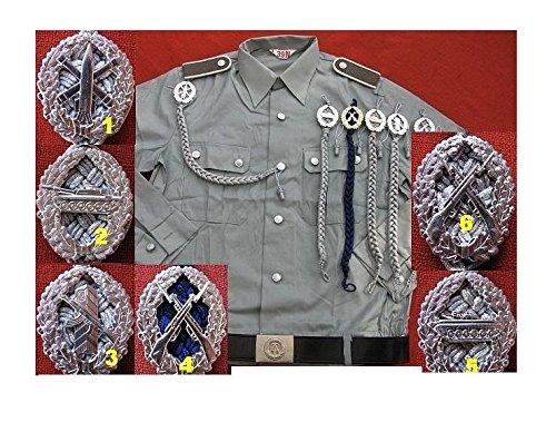 Unbekannt NVA Uniform Hemd NVA Schulterstücken NVA Schützenschnur Kragenweite 37-44 Fasching Karneval