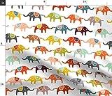 Zirkus, Elefant, Bunt, Kinder, Tiere, Verspielt Stoffe -