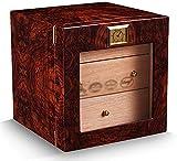 PANGPANGDEDIAN Caja de Humor de cigarro Brillante Cedar Caja de cigarros Cárcasa Humidificador Higrómetro Hidrómetro Humidor de cigarros para cigarros Caja Decorativa (Color : Style Two)