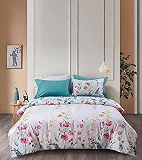 Starstorm_6 Pieces King Size Fitted Bed Sheet Set_Leaf Line Design (Click above on Starstorm for more designs)