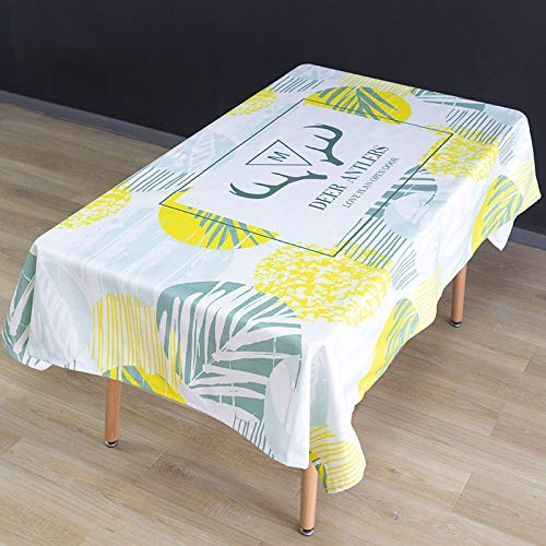 WSJIABIN Fabric Tablecloth Digital Print Ink Paint Rectangular Tablecloth Anti-fouling Decorative Tablecloth Oil-Proof Reusable Suitable for Indoor and Outdoor Use (110 x 170 cm)