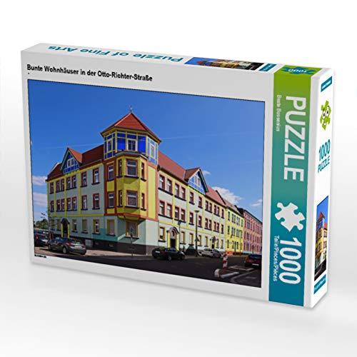CALVENDO Puzzle Bunte Wohnhäuser in der Otto-Richter-Straße 1000 Teile Lege-Größe 64 x 48 cm Foto-Puzzle Bild von Beate Bussenius