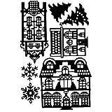 Set di 7 fustelle per stencil per casa, abete, fiocchi di neve