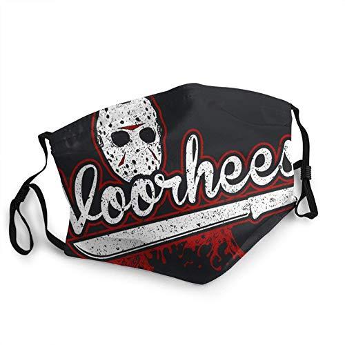 Jason Voorhees Adult Black Border Maske, tragbarer Gesichtsschutz, Kopftuch, elastische Kante, Sturmhaube