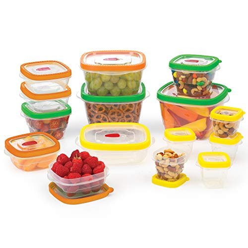 Conjunto de armazenamento de alimentos Goodcook Flex Trim, sortido, transparente