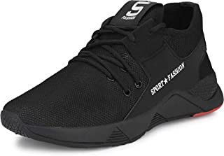 Camfoot Men's (9273) Black Casual Sports Running Shoes