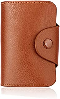 13 card capacity leather card and ID card holder brown color