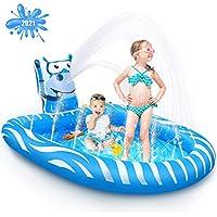 Beewarm Inflatable Splash Pad Sprinkler Pool Toys (Small)