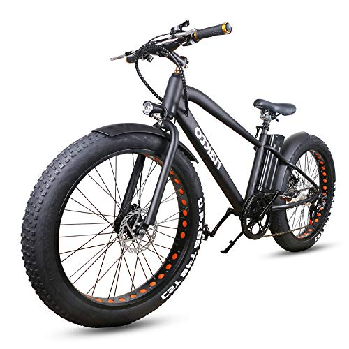 """NAKTO 26"""" Fat Tire Electric Bicycle 300W High Speed Brushless Motor and Detachable Waterproof Lithium Battery Electric Bikes Beach Snow Adult Electric Bicycles"""