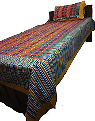 Kasooti's All Season, Single Bed Sheet, 100% Cotton, 90 X 60 Inches (7 X 5 Feet) Daily Use, Machine Wash