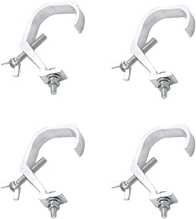 Yqbuy 4 Pack Stage Light Clamp Hook, Aluminum Alloy Truss Clamp for Par Lights Spotlights DJ Lighting(Bear weight 33lbs)