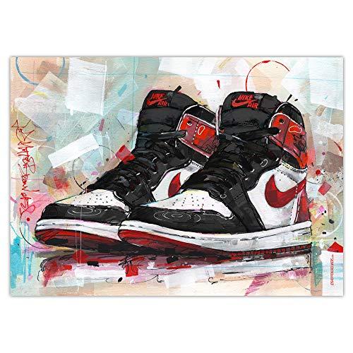JosHoppenbrouwers, stampa senza cornice, motivo: Nike Air Jordan, 70 x 50 cm