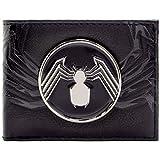 Venom Distintivo di ragno d'argento Nero Portafoglio