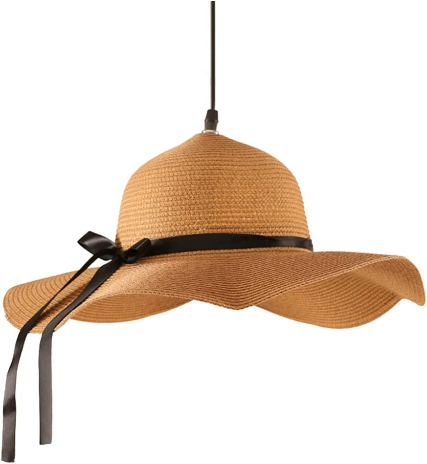 SOLUSTRE Creative Vintage Superlatite Straw Hat Shape Chandelier Ceil Rustic Sacramento Mall