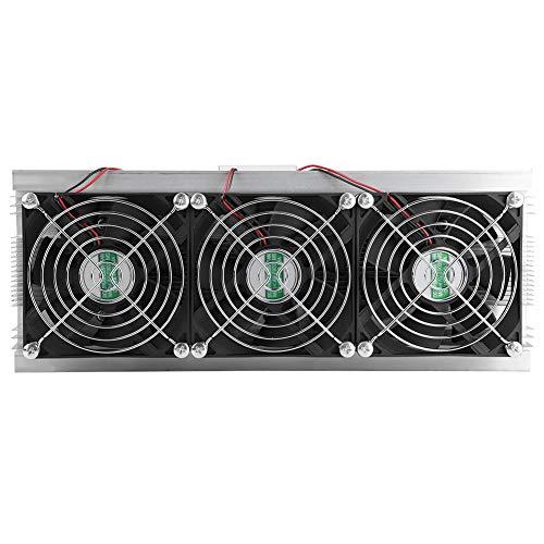 Semiconductor Thermoelektrische Kühler,Asixx Thermoelektrische Kühlung Kit Halbleiterkühlungs-DIY Kühlsystem mit 3 Ventilatoren, 12V 180W