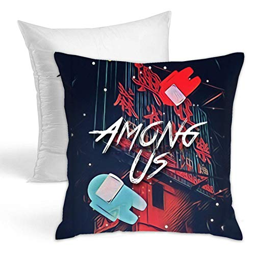 Among Us Throw Pillows Fashion Cushion Covers Home Decor Hold Pillow for Living Room Sofa Bedroom 18x18 Inch