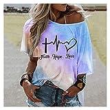 Hong Yi Fei-Shop Camisetas Mujer Camiseta para Mujer de Verano Tie-Tinte Impresión tee Casual Folle Señoras Camisetas sin Tirantes Camisetas Femeninas Femeninas Streetwear Tops Camiseta Corta