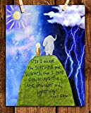 Khalil Gibran Quotes-Wall Art Decor-'Accept Sunshine & Warmth'. 8 x 10' Animated Typographic Print-Ready To Frame. Perfect Home-Office-School-Play Room. Fun Art Gift To Teach Gratitude With Kids.