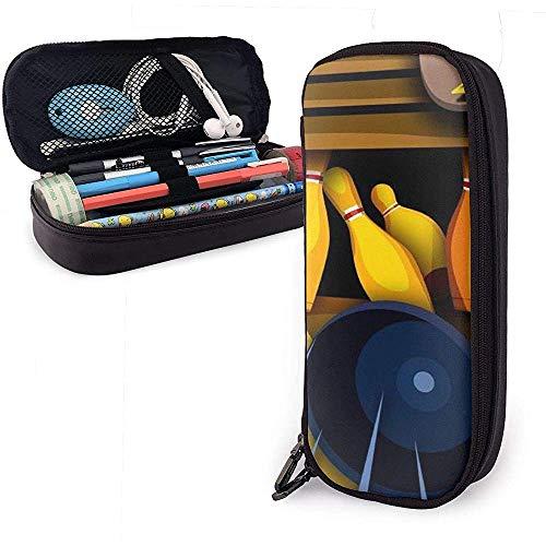 Estuche de lápices de cuero de la PU con cremallera, bolígrafo de gran capacidad de almacenamiento, marcador, estuche, bolígrafo, bolsa de maquillaje
