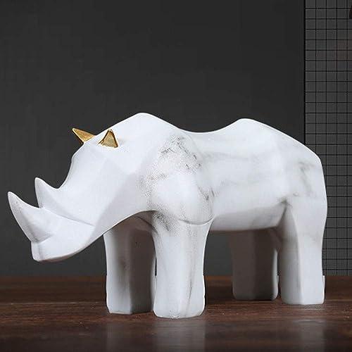 barato y de alta calidad RJJ Simple Origami Rhinoceros Adornos Modelo Modelo Modelo Creativo Habitación Decoración del Hogar Geométrica Origami Ganado Muebles para Animales Elegante  barato y de alta calidad