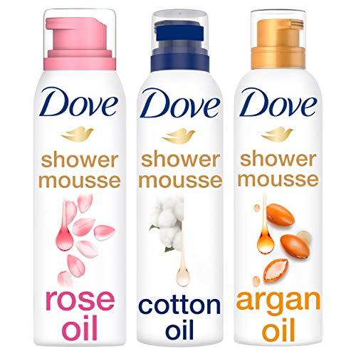 Dove Doucheschuim Mix Set - 3 x 200ml - Rose Oil, Cotton oil en Argan oil - 1 pakket