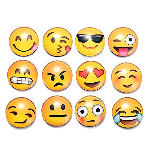 Dizie 10 Stück Emoji Smiley Gesicht Kristall Glas Magnetische Kühlschrankaufkleber Kreative Cartoon
