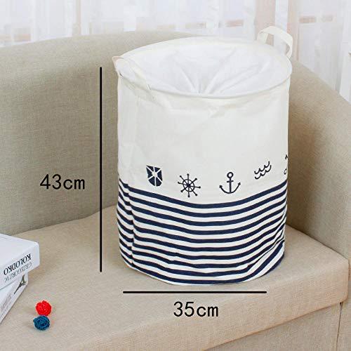 linyuyao Waschküche Ablagekorb wasserdicht und staubdicht Wäschekorb Hause Schlafzimmer Küche Ablage Wäsche Eimer-T