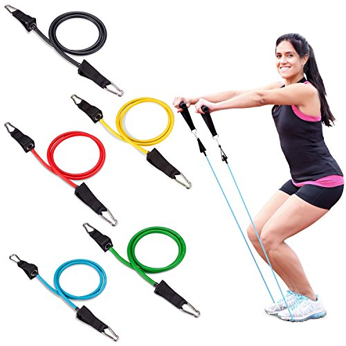Fit Simplify Resistance Band 12 Piece Set with Instruction Booklet