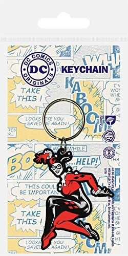 Pyramid International DC Originals Porte-clés Harley Quinn en caoutchouc, multicolore, 4,5 x 6 cm