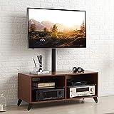 RFIVER Meuble TV avec 4 Compartiments Support Pivotant et Réglables en Hauteur pour...
