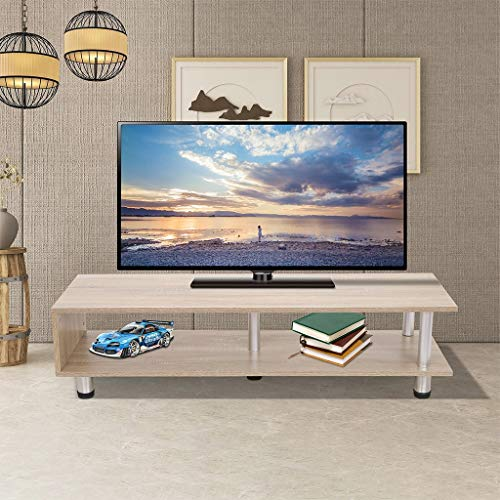 Ridkodg Us Fast Shipment Corner Tv Stand W/Led Light,Storage Shelf Display Cabinet for Living Room Furniture,Media Tv Desk Center Table,51.2