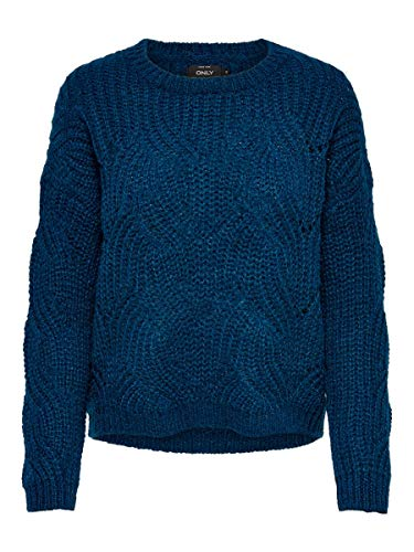 ONLY Damen Strickpullover Struktur MGibraltar Sea