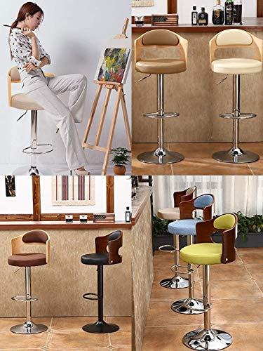 PIVFEDQX Stools Bar Stool Bar Chair Dining Chair High Ergonomics Lifting 360° Rotating Adjustable Loft High Chair Kitchen Home Breakfast (Color : Black)