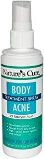 Nature's Cure Body Acne Treatment Spray 3.5 oz (Pack of 3)