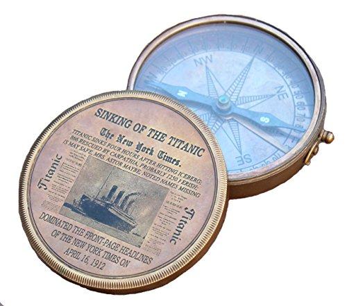 Boussole en laiton Vintage Titanic