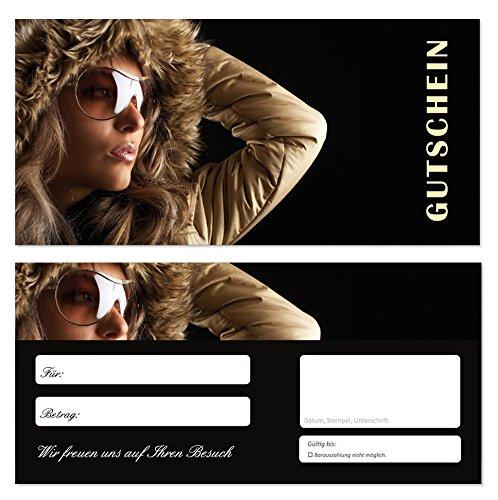 200 Stück Geschenkgutscheine (GUT-703) Gutscheine Gutscheinkarten für Bereiche wie Einzelhandel Mode Klamotten Optiker Brillen Shopping