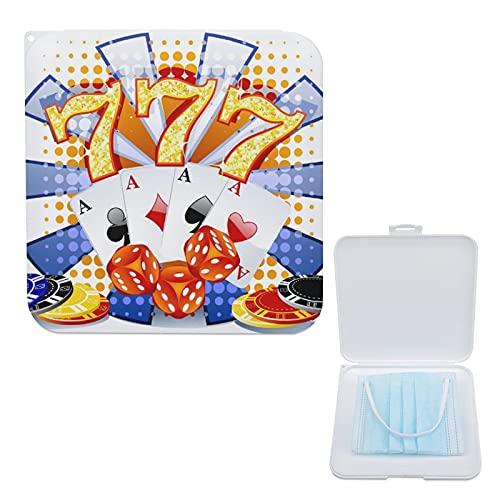 Lurnies 0 Fiches Per Poker Custodia Per Maschera, Supporto Per Maschera Portatile, Custodia In Plastica Per Copertura Del Viso - Cassaforte Antipolvere 13cmx13cm